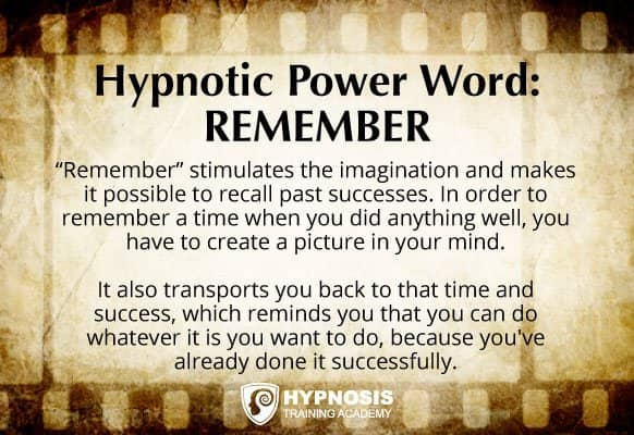 "Why hypnotic power word ""remember"" is so effective"