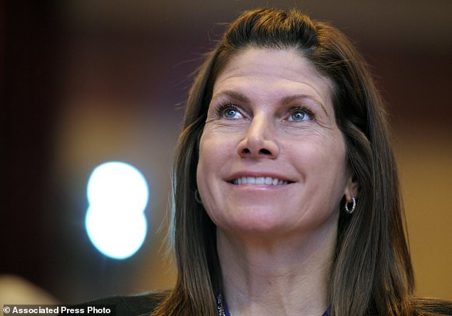 In this Feb. 12, 2011, file photo, then-Rep. Mary Bono, R-Calif., listens at the Conservative Political Action Conference (CPAC) in Washington. One current and three former female members of Congress tell The Associated Press they have been sexually harassed or subjected to hostile sexual comments by their male colleagues while serving in the House. For years Bono endured the increasingly suggestive comments from a fellow lawmaker in the House. But when the congressman approached her on the House floor and told her he