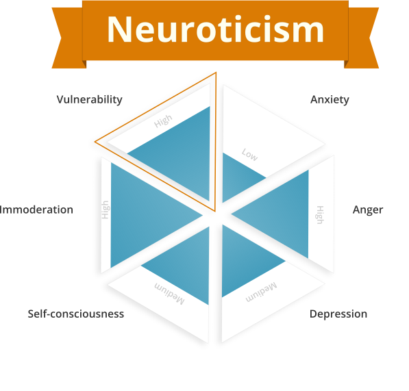 Neuroticism personality trait